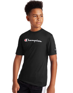 Champion Youth Double Dry Logo Tee OCW24A Y07858
