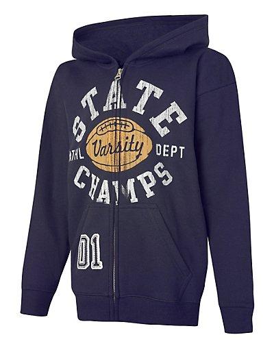 Hanes EcoSmart® Boys' Epic 98 Full-Zip Hoodie Sweatshirt OD098