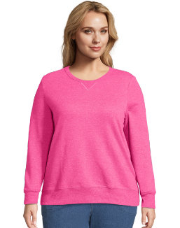 Just My Size ComfortSoft® EcoSmart® V-Notch Crewneck Women's Sweatshirt women Just My Size