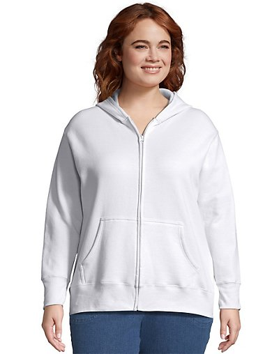 JMS Just My Size ComfortSoft® EcoSmart® Fleece Full-Zip Women's Hoodie - OJ105
