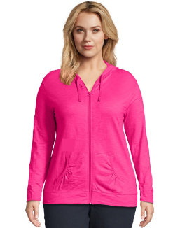 Just My Size Slub-Cotton Full-Zip Women's Hoodie women Just My Size