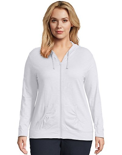 JMS Just My Size Slub-Cotton Full-Zip Women's Hoodie - OJ168