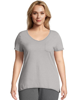 Just My Size X-Temp® Short-Sleeve V-Neck Women's Pocket Tee women Just My Size