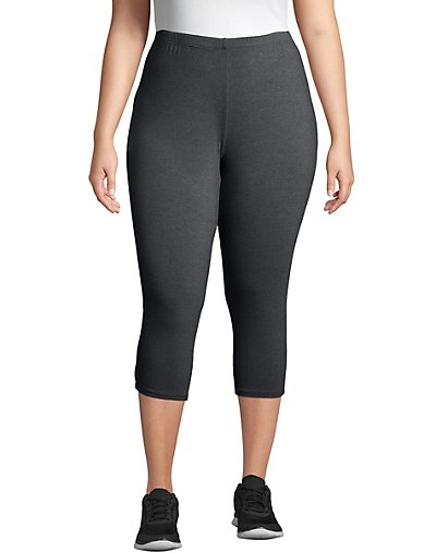 JMS Just My Size Stretch Cotton Jersey Women's Capri Leggings - OJ256