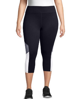 Just My Size Active Blocked Capris women Just My Size