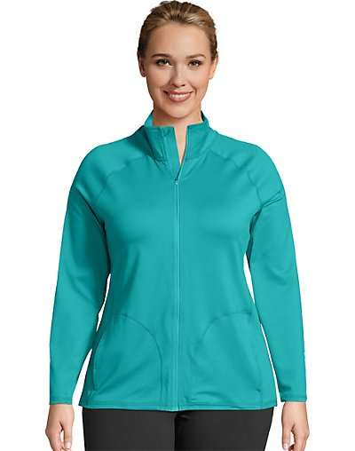 JMS Active Full Zip Mock Neck Jacket - OJ906