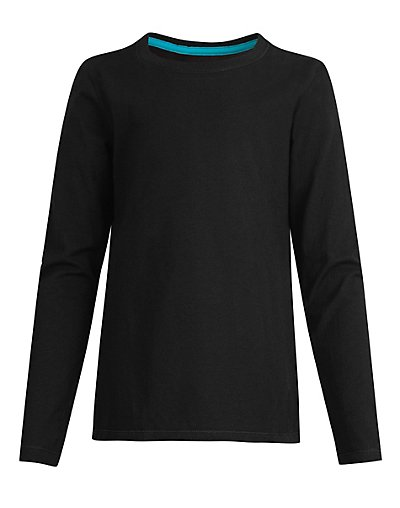 Hanes OK123  Girls' Long-Sleeve Crewneck T-Shirt