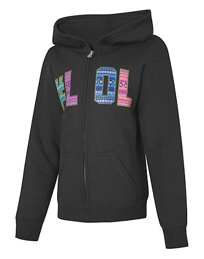 Hanes ComfortSoft EcoSmart® Girls' Graphics Full-Zip Hoodie Sweatshirt - OK269