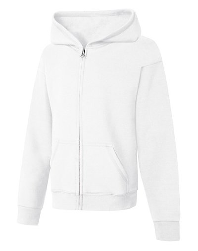 Hanes ComfortSoft EcoSmart® Girls' Full-Zip Hoodie Sweatshirt - OK270