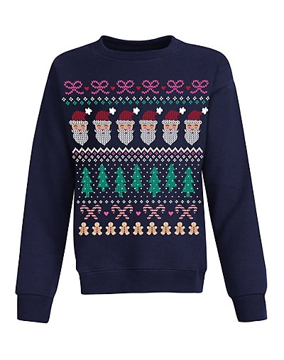 Hanes Girls' Ugly Christmas Sweatshirt OK923