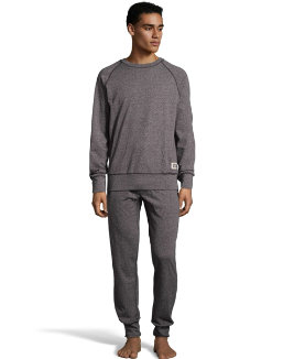 Hanes Men's 1901 Heritage Raglan Crew Top and Jogger Pant Lounge Set men Hanes