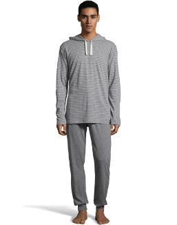 Hanes Men's 1901 Heritage Striped Hoodie with Jogger Pant Set men Hanes