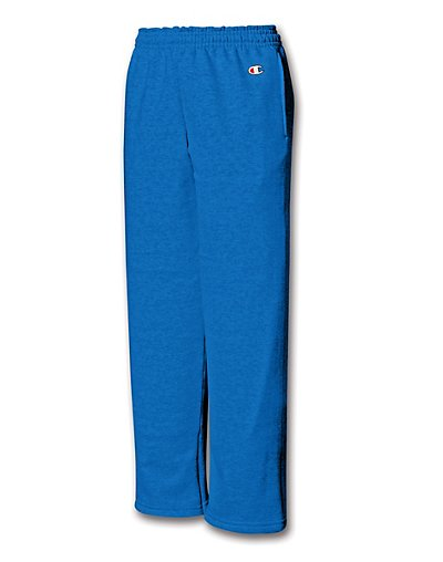 Champion Double Dry® Action Fleece Kids' Sweatpants with Open Hems & Side Pockets - P890V