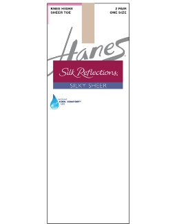 Hanes Silk Reflections Silky Sheer Knee Highs 2-Pack women Hanes