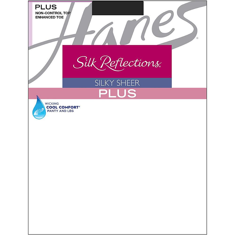 Hanes Silk Reflections Plus Enhanced Toe Sheer Pantyhose