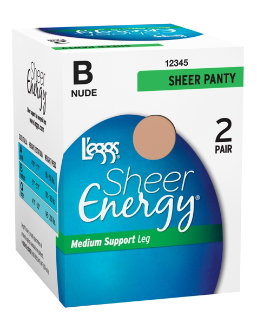 L'eggs Sheer Energy All Sheer 2 Pair women L'eggs