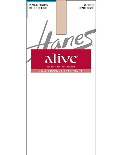 Hanes Alive Full Support Sheer Knee Highs 2-Pair 0A446