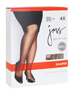 Shaper with Silky Leg Sheer Toe women Just My Size