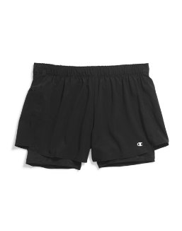 Champion Women's Plus Stretch Woven 2 In 1 Shorts women Champion