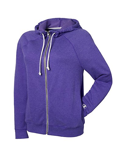 Champion Women's Plus French Terry Full Zip Hoodie - QW1237