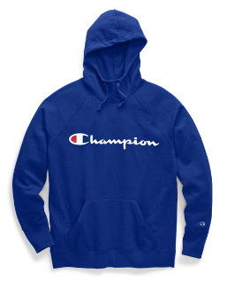 Champion Women Plus Powerblend Fleece Pullover Hoodie Graphic-2C Champion Script women Champion