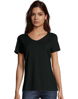Hanes Women's Nano-T® V-Neck T-Shirt women Hanes