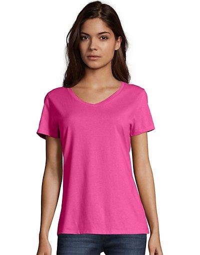 Hanes Women's Nano-T® V-Neck T-Shirt - S04V