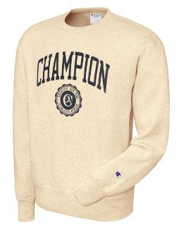 Champion Men's Heritage Fleece Crew Collegiate Logo With Crest men Champion