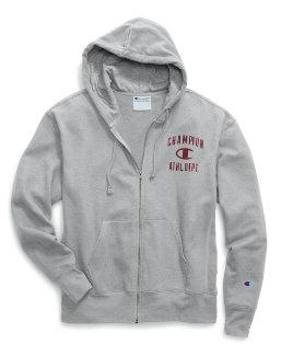 Champion Men's Heritage Fleece Zip Hoodie, Distressed C Logo men Champion