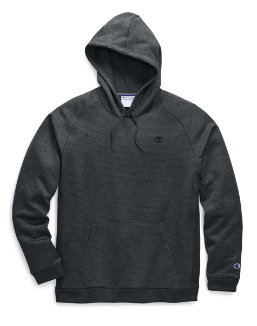 Champion Men's Stadium Fleece Pullover Hood, C Logo men Champion