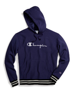 Champion Life® Men's Reverse Weave® Yarn Dye Rib Trim Pullover Hoodie, Vintage Logo men Champion