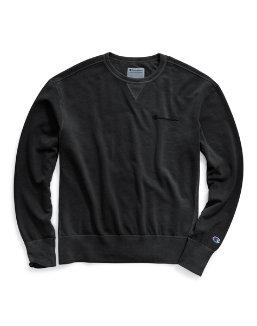 Champion Men's Vintage Dye Fleece Crew, Embroidered Logo men Champion