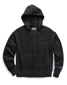 Champion Men's Vintage Dye Fleece Pullover Hoodie, Embroidered Logo men Champion