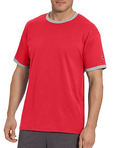 Champion T0220  Men's Classic Jersey Ringer Tee