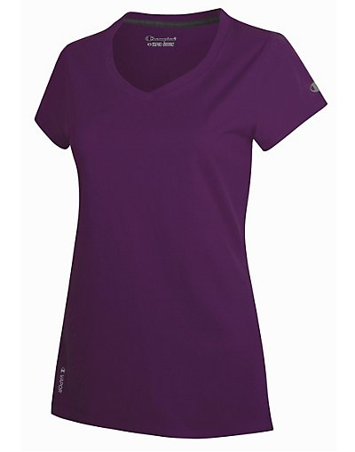 Champion T050 Women's V-Neck Vapor Cotton Tee