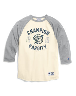 Champion Men's Heritage Baseball Slub Tee, Champion Panther men Champion