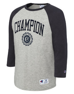 Champion Men's Heritage Baseball Slub Tee, Collegiate Logo With Crest men Champion