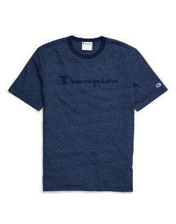 Champion Men's Heritage Heather Tee, Script Logo men Champion