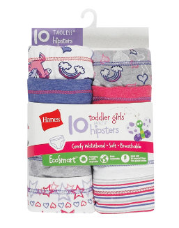 Hanes Toddler Girls' EcoSmart™ Hipsters 10-Pack youth Hanes