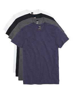Hanes Men's Garment Washed Crewneck Short-Sleeved Tee Assorted 4-Pack men Hanes