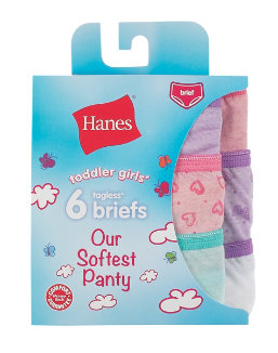 Hanes Toddler Girls' Softest Panty Briefs 6-Pack youth Hanes