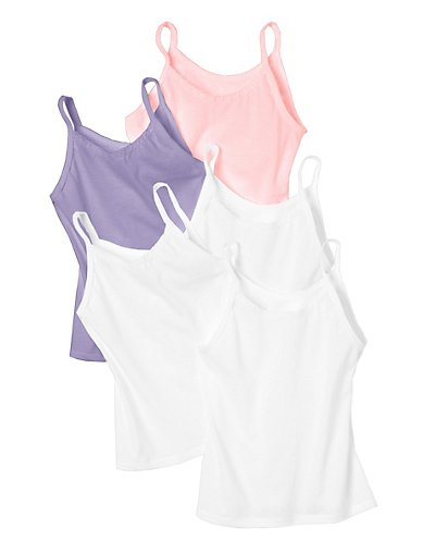Hanes Toddler Girls' Cami Assorted 5-Pack TV30A5