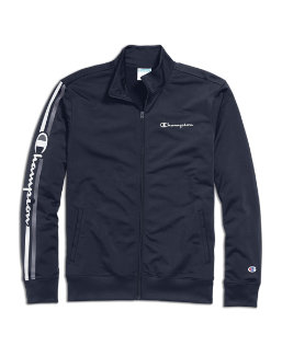 Champion Men's Track Jacket, Vertical Logo men Champion