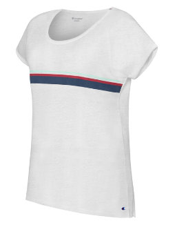 Champion Women's Authentic Wash Fashion Tee With Stripes women Champion