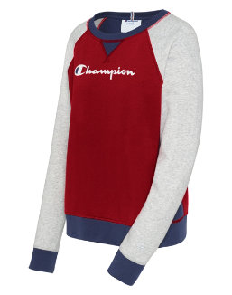 Champion Women's Heritage French Terry Crew, Script Logo women Champion