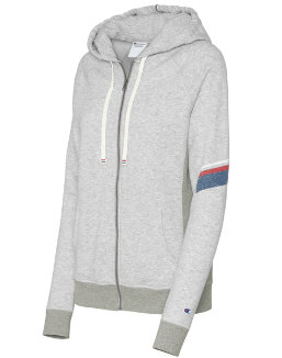 Champion Women's Heritage French Terry Zip Hoodie With Stripes women Champion