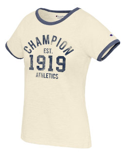 Champion Women's Heritage Ringer Tee-Champion Est 1919 women Champion