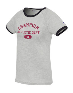 Champion Women's Heritage Ringer Tee-Arch women Champion