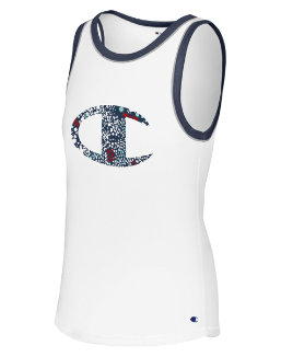 Champion Women's Heritage Ringer Tank-Floral Fill women Champion