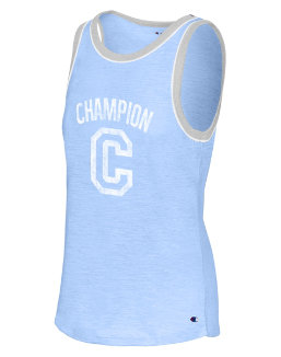 Champion Women's Heritage Ringer Tank-Big C women Champion